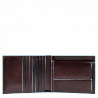 Piquadro Blue Square Herrenbrieftasche + RFID Mahagoni