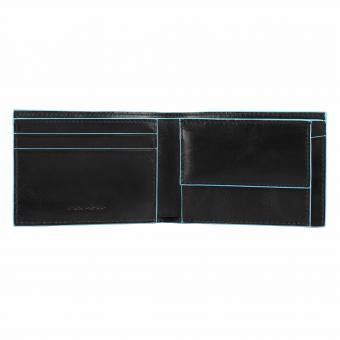 Piquadro Blue Square Herrengeldbörse mit Münz- und Kreditkartenfach black