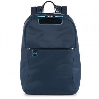 Piquadro Celion Rucksack mit herausnehmbarer PC-, iPad®Pro/iPad®mini-Hülle mit Orga-Fächern blau