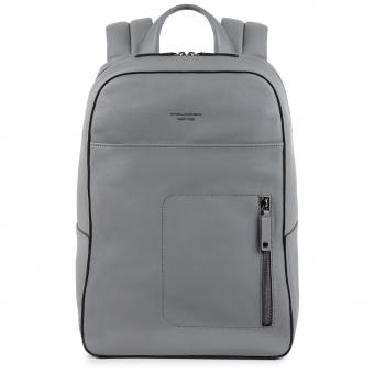 """Piquadro David Laptop-Rucksack 15.6"""" grigio"""
