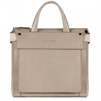 Piquadro Kolyma Damentasche mit iPad®Air/Pro 9,7-Fach sand