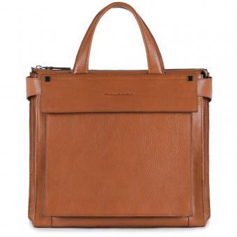 Piquadro Kolyma Damentasche mit iPad®Air/Pro 9,7-Fach cuoio tabacco