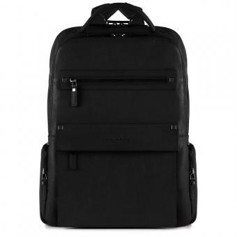 Piquadro Kolyma Laptoprucksack mit iPad®Air/Pro 9,7-Fach, Regenschirm- und Flaschentasche schwarz