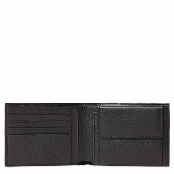 Piquadro Modus Herrengeldbörse mit Münzfach und Kleingeldfach Schwarz