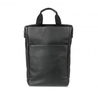 "Salzen Tote Backpack Freelict Leather 15,6"" Total Black"