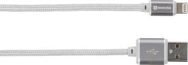 SKROSS Charge'n Sync Lightning Connector - Steel Line silber