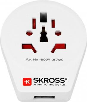SKROSS Country Adapter World to Europe USB