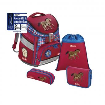 Step by Step Comfort Schulranzen-Set, 4-teilig Horse Family