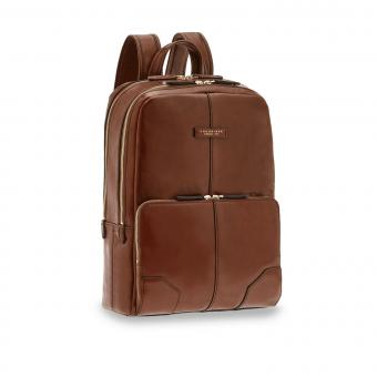 The Bridge Vespucci Leder-Rucksack 40cm Braun/Gold