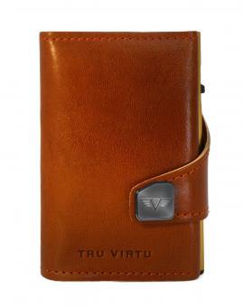 Tru Virtu Click & Slide Wallet *Special Edition* Florence Cognac/Gold
