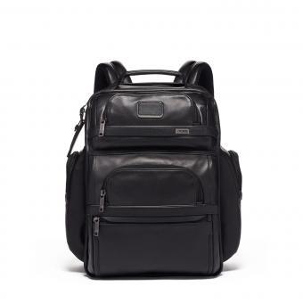 "Tumi Alpha 3 Brief Pack® Rucksack Leather 15"" Black"