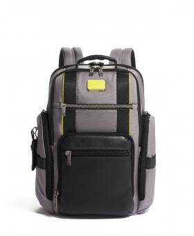 Tumi Alpha Bravo Sheppard Deluxe Brief Pack Rucksack Grey/Bright Lime