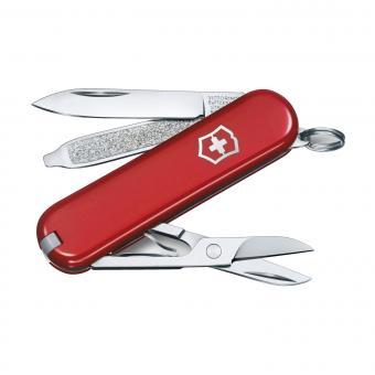 Victorinox Kleines Taschenmesser Classic SD, 7 Funktionen Rot
