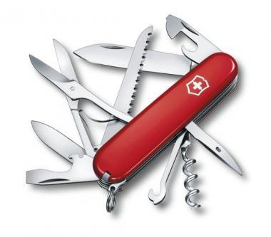 Victorinox Mittleres Taschenmesser Huntsman, 15 Funktionen Rot