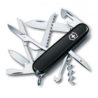 Victorinox Mittleres Taschenmesser Huntsman, 15 Funktionen Schwarz