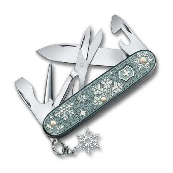 Victorinox Mittleres Taschenmesser Pioneer X *Winter Magic* Special Edition 2020 Blau-grau