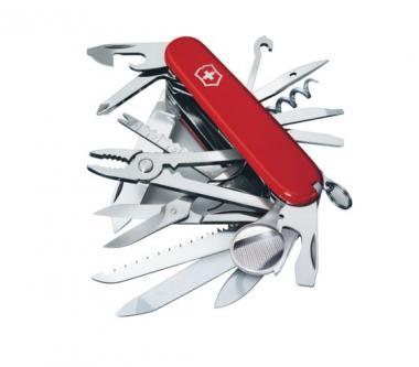 Victorinox Mittleres Taschenmesser Swiss Champ, 33 Funktionen Rot