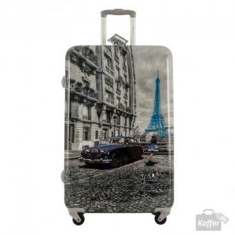YNot? Yes Case Trolley L 4 Rollen Paris Blue Rain