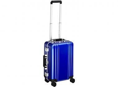 Zero Halliburton Classic Framed Carry on 4 Wheel Spinner Travel Case blue
