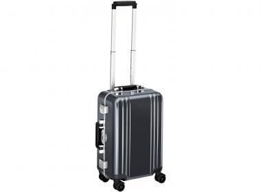 Zero Halliburton Classic Framed Carry on 4 Wheel Spinner Travel Case gunmetal