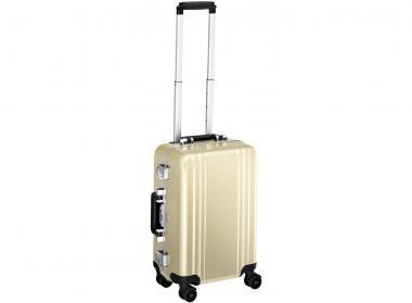 Zero Halliburton Classic Framed Carry on 4 Wheel Spinner Travel Case gold