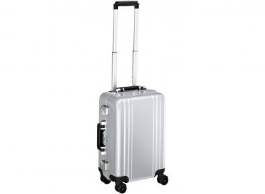 Zero Halliburton Classic Framed Carry on 4 Wheel Spinner Travel Case silver