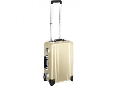 Zero Halliburton Classic Framed Carry on 2 Wheel Travel Case gold