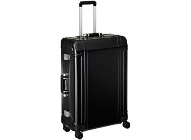 Zero Halliburton Geo Aluminium 4 Wheel Spinner Travel Case 28 Zoll Black