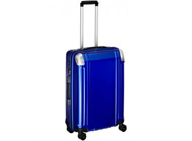 Zero Halliburton Polycarbonate Zipped 4 Wheel Spinner Travel Case 24 Zoll blue