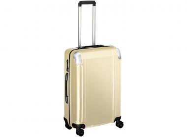 Zero Halliburton Polycarbonate Zipped 4 Wheel Spinner Travel Case 24 Zoll gold