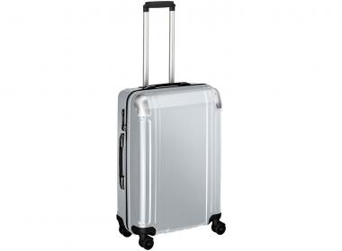 Zero Halliburton Polycarbonate Zipped 4 Wheel Spinner Travel Case 24 Zoll silver