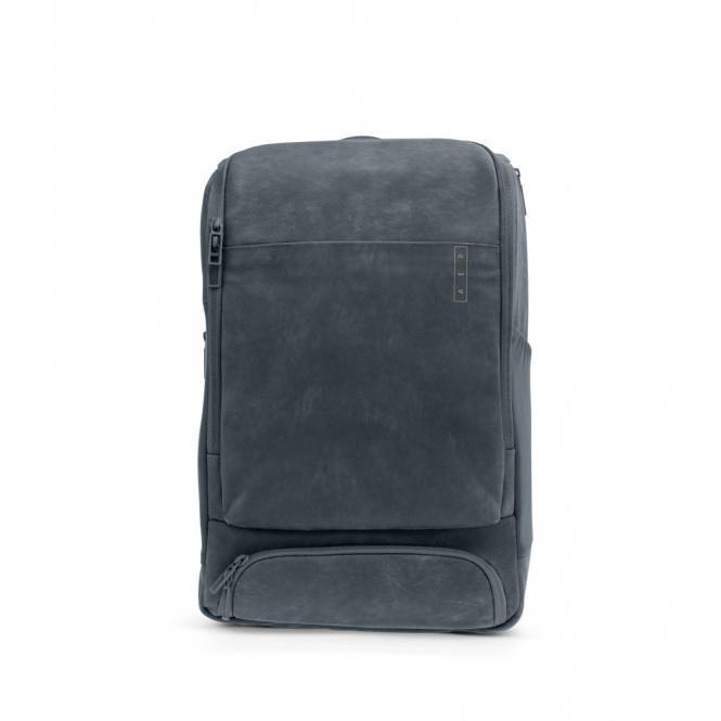 *Sleek* Leather Business Lederrucksack mit Laptopfach Slate Grey