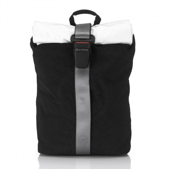 Rolltop-Rucksack mit Laptopfach Black