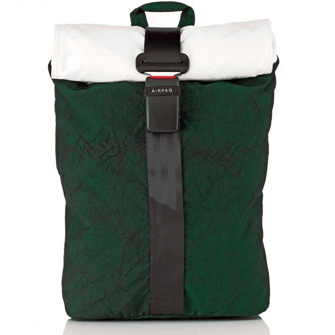 Rolltop-Rucksack mit Laptopfach Grün