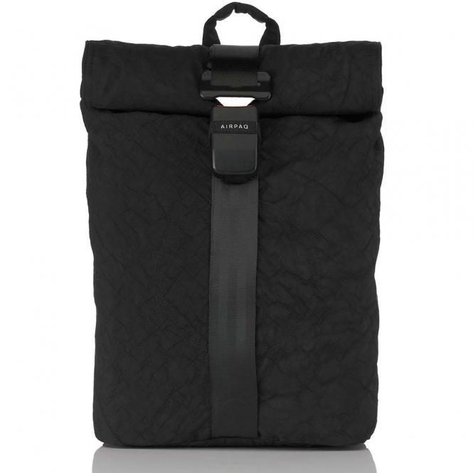 Rolltop-Rucksack mit Laptopfach Black Uni