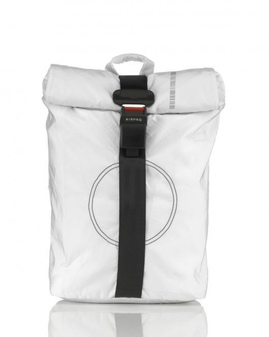 Rolltop-Rucksack mit Laptopfach Weiss Uni