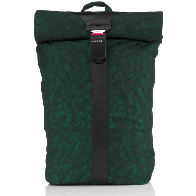 Rolltop-Rucksack XL mit Laptopfach Grün