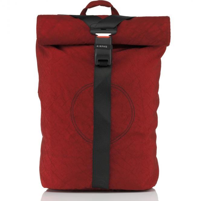Rolltop-Rucksack XL mit Laptopfach Rot