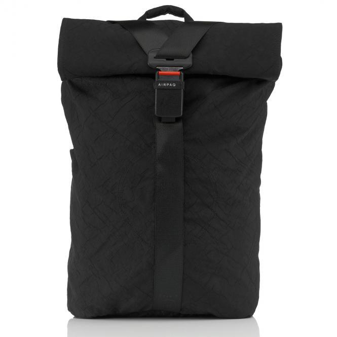 Rolltop-Rucksack XL mit Laptopfach Schwarz