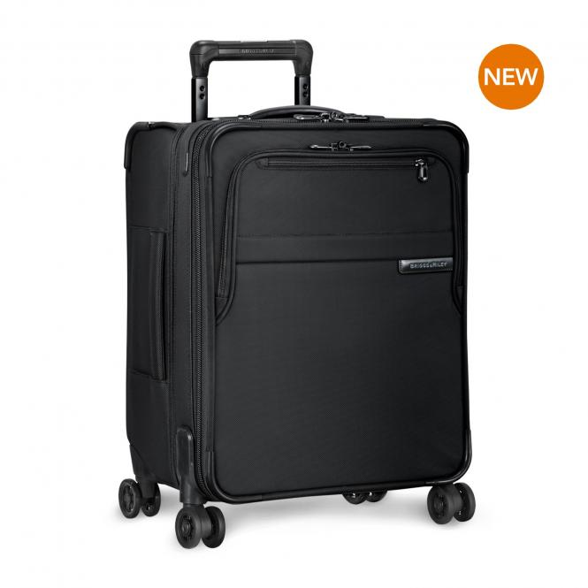 International Carry-On Expandable Wide-body 4-Rollen-Trolley Black