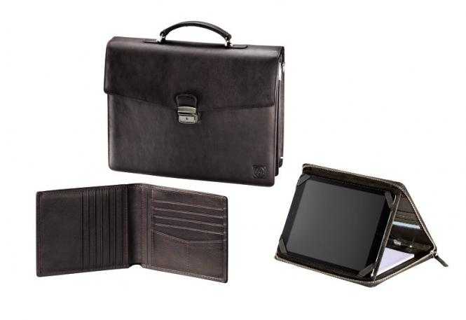 Business 3-tlg-Set Rustic Dark Brown