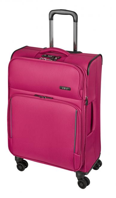 Trolley-Set 7904 4R, 3-tlg. S/M/L pink
