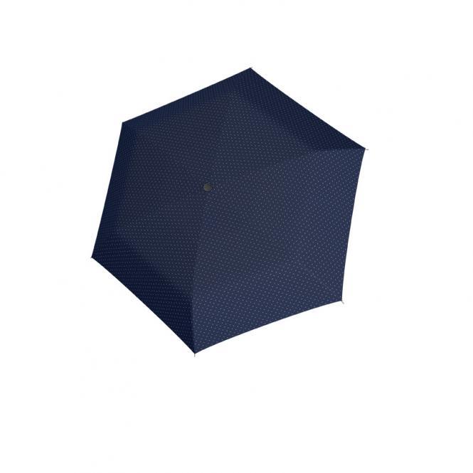 Mini Slim Royal Manuell Taschenschirm Blau mit Raute-Muster