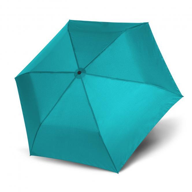 Leichtester Auf-Zu Automatik Taschenschirm uni blue