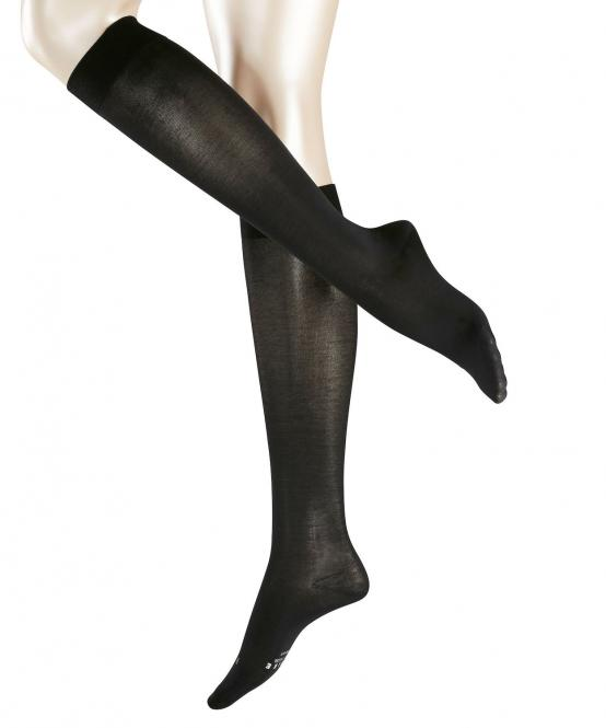 Damen Kniestrümpfe 35-36 black