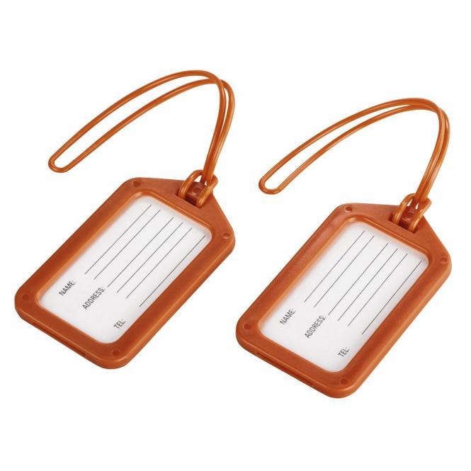 Gepäckanhänger 2er- Set Orange