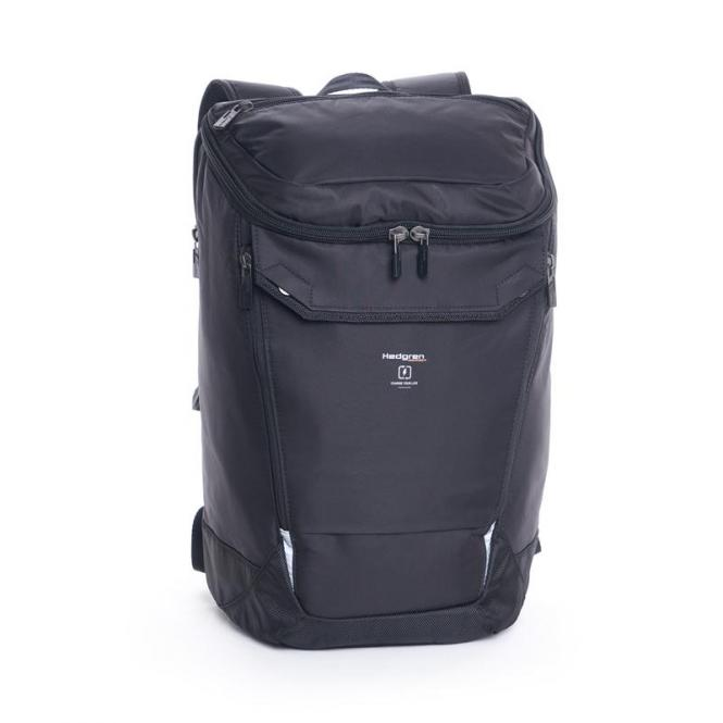 """Bond Large Backpack with Rain Cover 15.6"""" Black"""
