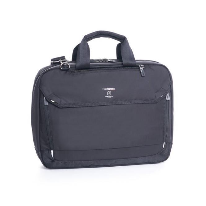"Hitch Slim 3-Way Briefcase 15"" Black"