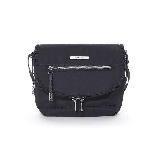 SHIMMER Crossover with flap Schultertasche Black