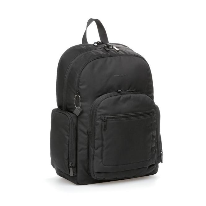 "TOUR Large Backpack 15"" RFID Black"